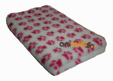 Tapis Confortbed Vetbed Dry Extra anti-dérapant blanc pattes fuchsia 100 x 150 c