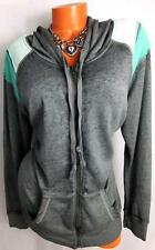MAURICES GREY aqua green FULL ZIP HOODED WOMEN'S PLUS SIZE SWEATER 0, XL