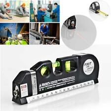 Multipurpose Level Laser Horizon Vertical Measure Tape Aligner Bubbles Rulers AB