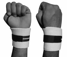 ARD Power Weight Lifting Wrist Wraps Supports Gym Training Fist Straps WHITE