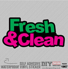 Fresh And Clean Jdm Dub Green Pink  Self Adhesive Vinyl Sticker Decal Window Car
