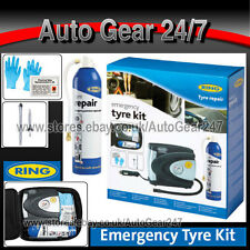 Ring RTK1 Emergency Car Van Tyre Repair Air Compressor Pump Inflator Sealant Kit