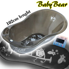 OWLS LUX  Large Baby Bath Tub with thermometer - 102 cm -  BLACK