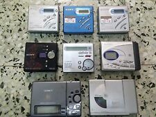 4 Sony and Sharp MD MZR500 MZNE410 MZR70 MZR37 Mini Disc Players Recorders lot