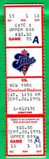 RARE/ORIGINAL/BEAUTIFUL FULL TICKET-1991 INDIANS/YANKEES-9/28/91