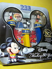 DISNEY, MICKEY MOUSE 80 YEARS PEZ COLLECTIBLES, NIB, 2007