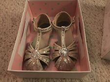 Joyfolie Hazel Silver Girls Dress Sandals Play Condition Size 1