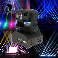 10W RGBW Mini Moving Head Light DJ Stage Disco Club Show Lighting DMX512 US Plug