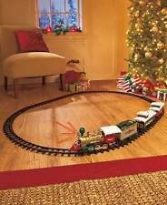 20-Pc. Christmas Train Set Santa Lighted and Realistic Sounds Under Tree Decor