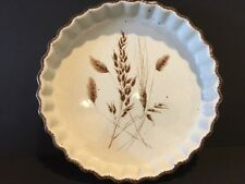 "RARE Vintage Midwinter Wild Oats Stonehenge 9"" QUICHE Dish Pan BAKER England"