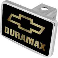 New Chevrolet Duramax Gold Logo/Gold Word Hitch Cover