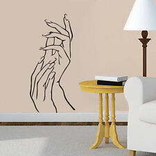Woman Beauty Salon Wall Sticker Girl Hands Manicure Vinyl Decor Removabe Decal