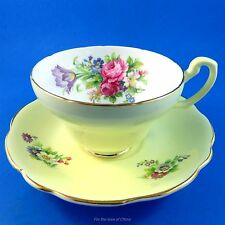 """Pretty Yellow """"Foley Tulip"""" Foley Tea Cup and Saucer Set"""
