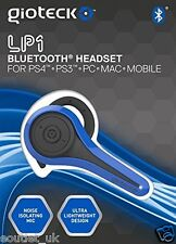 Gioteck LP-1 bluetooth chat headset-bleu pour sony playstation PS4 PS3 & pc neuf