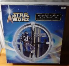 Star Wars Humbrol Mould & Paint Glow in the Dark Clock Jango Fett Brand New