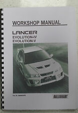 MITSUBISHI LANCER EVO IV / V WORKSHOP MANUAL REPRINTED