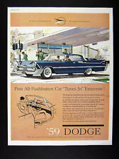 1959 Dodge Custom Royal Lancer 4-Door blue car art vintage print Ad