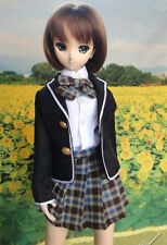 1/3 BJD dollfie dream doll outfit DDL/DDM school uniform dress set ship US