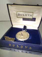 "VINTAGE BULOVA orologio da tasca con ""Direct read"" secondo-Incl. BOX"