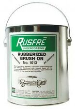 RUSFRE Black Rubberized Brush-On Undercoating, Gallon, RUS-1013
