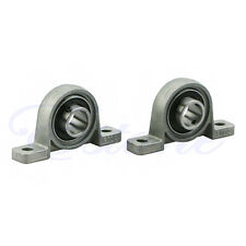 2X 15mm Zinc Alloy Diameter Bore Ball Bearing Pillow Block Mounted Support KP002