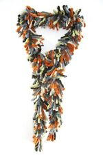 ELEGANT ABSTRACT INSPIRED COLORFUL BOLD SOFT FRILL DESIGN SCARF RETRO(MS34)