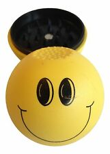 """Plastic Herb Spice Tobacco Grinder 2"""" Acrylic Ball -  Smiley Face SAME DAY SHIP!"""