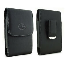 Vertical Leather Case Pouch Cover with Swivel Belt Clip for Doro PhoneEasy 410