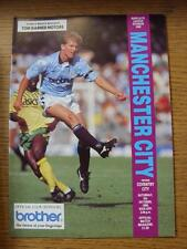 06/10/1990 Manchester City v Coventry City  (Mark On Cover)