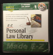 MADE E-Z PERSONAL LAW LIBRARY SOFTWARE  4 CD disk SET