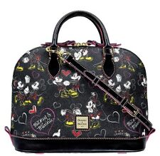Disney Parks Dooney & Bourke Romancing Minnie Mouse Black Purse Satchel Bag