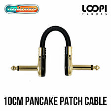 10cm Pancake Right Angled Effect Patch Cable - Van Damme Ultra Flexible Cable