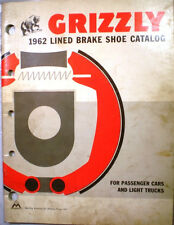 Maremont GRIZZLY Lined Brake Shoes Catalog ASBESTOS History Brakes Lining 1962