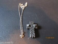 TORINO PEWTER JEWLRY SETS/4 PC/CROSS/TRINKET BOX/EARRINGS/NECKLACE/PIN