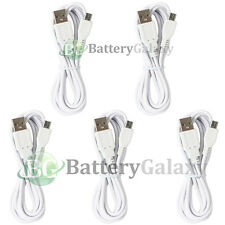 5 White USB 6FT Micro Charger Data Cable for Samsung Galaxy S6/Edge/Core Prime