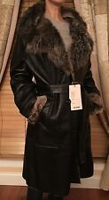 NWT Women's SPAINE Exclusive  Genuine Shearling/Leather Jacket Lightweight Sz XL