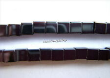 "Gemstone Natural Jet Hematite  Approx 16"" 3 x 3mm Cube Loose Beads New"
