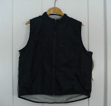 TEK GEAR UNISEX REVERSIBLE VEST NAVY/ NYLON OR  GRAY/SWEATSHIRT SIZE LARGE