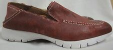 FIVE HUSH PUPPIES VIBRAM RED SLIP ON LOAFER SHOES WITH WHITE STITCHING MENS