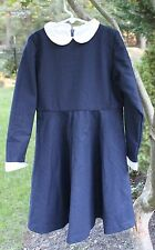 Olive Juice Girl's Wool Lined Dress Blue Size 8