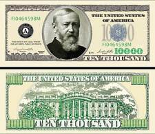 Harrison $10,000 Poker Play Money Dollar Bill Collectible Novelty Note