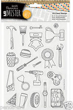 Papermania clear rubber stamps Mr Mister icons Fathers day Birthday men saw beer