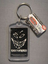 DISTURBED THE GUY GRINNING FACE Band Logo Keychain