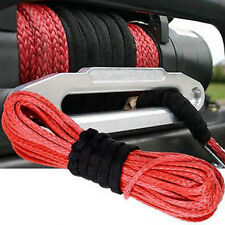 "Sale Car SUV Red 50' 1/4""Dyneema Synthetic Winch Cable 6400 LBS Replacement Rope"