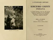 1919 KOSCIUSKO County Indiana IN, History and Genealogy Ancestry Family DVD B36