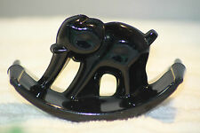 Vintage Black Glass Elephant Ink Blotter Rocker Thew 31 Houze
