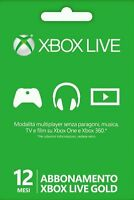 Microsoft Xbox LIVE 12 Month Gold Membership for Xbox 360 / XBOX ONE (Card)