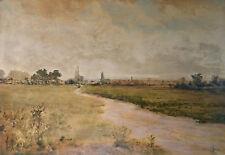 Antique peinture: Le Champs de Course, CAEN. J.P. VICTOR FALIES (*1849) Aquarell