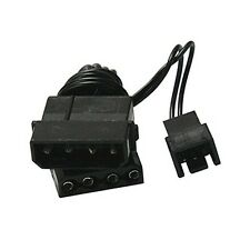 3-Pin to 4-Pin Fan Power Adapter Cable Shrouded Black