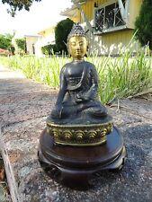 Chinese Brass Carved statue ' Sit Guanyin Buddha